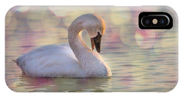 Shy Swan IPhone Case