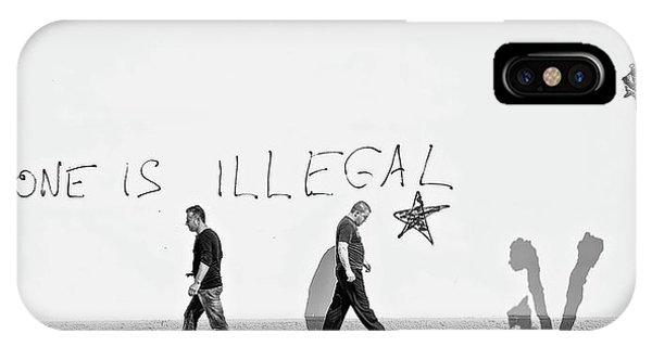 Panorama iPhone Case - No One Is Illegal by Martin Sander