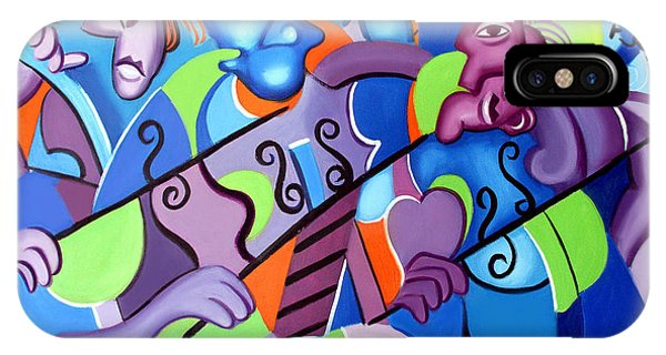 IPhone Case featuring the painting No Strings Attached by Anthony Falbo