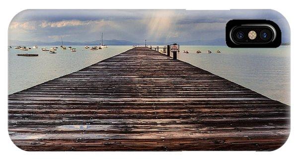 Jet Ski iPhone X Case - No Swimming by Mitch Shindelbower