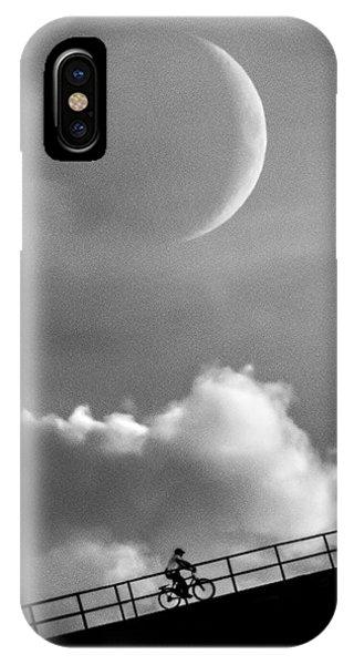 Moon iPhone Case - No Turning Back by Bob Orsillo