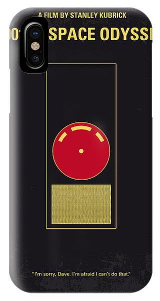 Space iPhone Case - No003 My 2001 A Space Odyssey 2000 Minimal Movie Poster by Chungkong Art