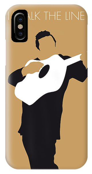Walk iPhone Case - No010 My Johnny Cash Minimal Music Poster by Chungkong Art
