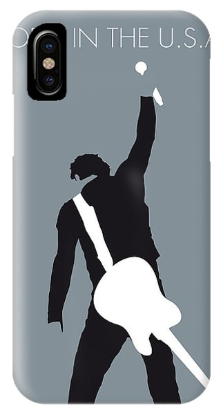 The iPhone Case - No017 My Bruce Springsteen Minimal Music Poster by Chungkong Art