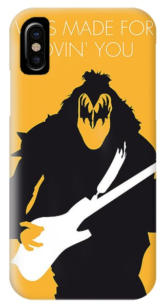 I Love You iPhone Case - No024 My Kiss Minimal Music Poster by Chungkong Art