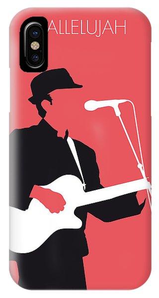 Singer iPhone Case - No042 My Leonard Cohen Minimal Music by Chungkong Art