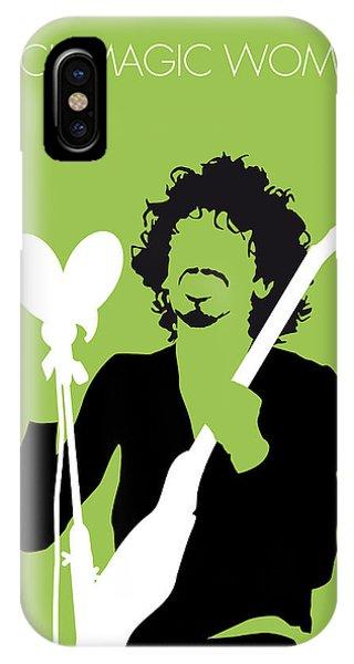 Magician iPhone Case - No046 My Santana Minimal Music Poster by Chungkong Art