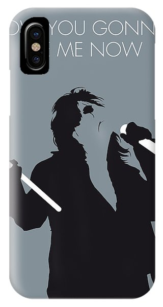 Inside iPhone Case - No047 My Alice Cooper Minimal Music Poster by Chungkong Art
