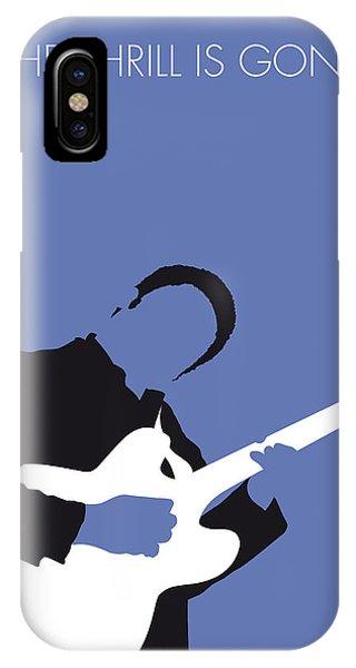 King iPhone Case - No048 My Bb King Minimal Music Poster by Chungkong Art
