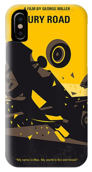 Fury iPhone Case - No051 My Mad Max 4 Fury Road Minimal Movie Poster by Chungkong Art
