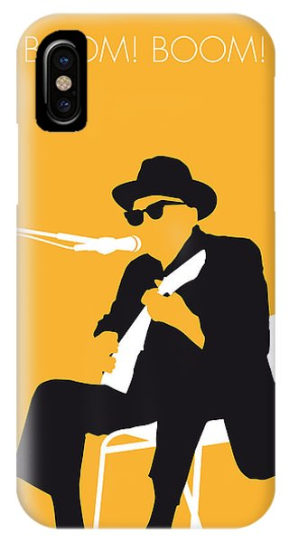 Music iPhone Case - No054 My Johnny Lee Hooker Minimal Music Poster by Chungkong Art