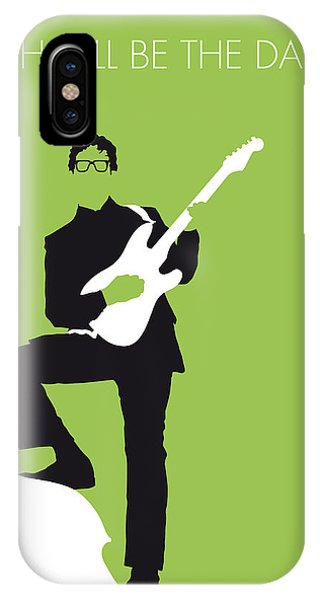 Guitar iPhone Case - No056 My Buddy Holly Minimal Music Poster by Chungkong Art
