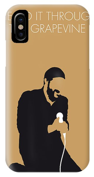 Knight iPhone Case - No060 My Marvin Gaye Minimal Music Poster by Chungkong Art