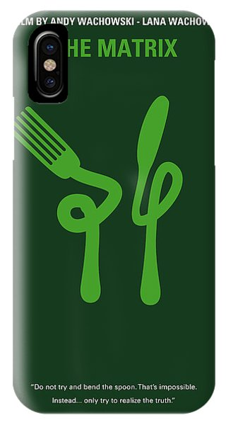 Movie iPhone Case - No093 My The Matrix Minimal Movie Poster by Chungkong Art