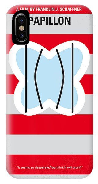 Escape iPhone Case - No098 My Papillon Minimal Movie Poster by Chungkong Art
