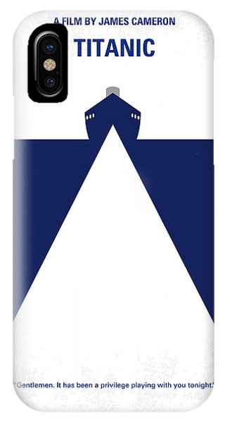 Diamond iPhone Case - No100 My Titanic Minimal Movie Poster by Chungkong Art