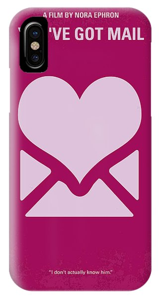 Love iPhone Case - No107 My Youve Got Mail Movie Poster by Chungkong Art