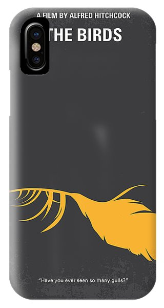 Seagull iPhone Case - No110 My Birds Movie Poster by Chungkong Art