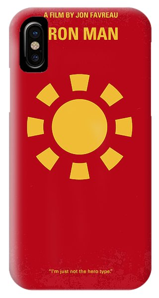 Men iPhone Case - No113 My Iron Man Minimal Movie Poster by Chungkong Art