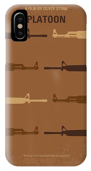 Stone Wall iPhone Case - No115 My Platoon Minimal Movie Poster by Chungkong Art
