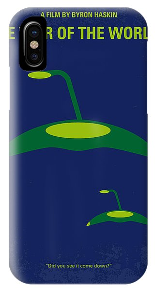 Aliens iPhone Case - No118 My War Of The Worlds Minimal Movie Poster by Chungkong Art