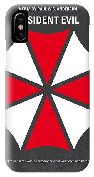 No119 My Resident Evil Minimal Movie Poster IPhone Case