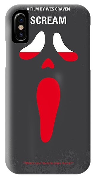 Cosmetic iPhone Case - No121 My Scream Minimal Movie Poster by Chungkong Art