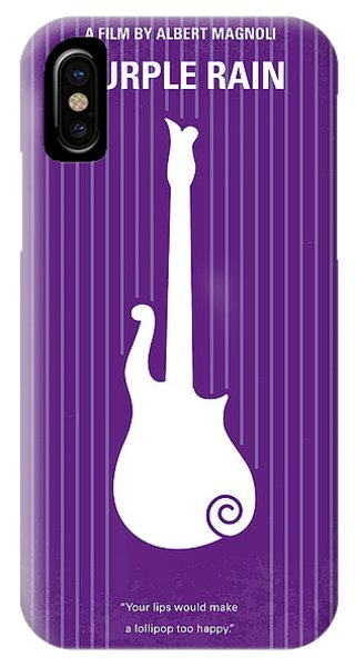 Purple iPhone Case - No124 My Purple Rain Minimal Movie Poster by Chungkong Art