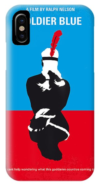 Fort iPhone Case - No136 My Soldier Blue Minimal Movie Poster by Chungkong Art