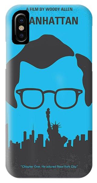 New York iPhone Case - No146 My Manhattan Minimal Movie Poster by Chungkong Art