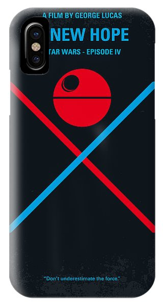 Movie iPhone Case - No154 My Star Wars Episode Iv A New Hope Minimal Movie Poster by Chungkong Art