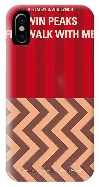 Fire iPhone Case - No169 My Fire Walk With Me Minimal Movie Poster by Chungkong Art