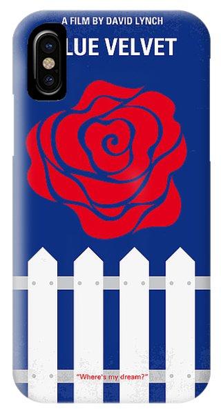 No170 My Blue Velvet Minimal Movie Poster IPhone Case