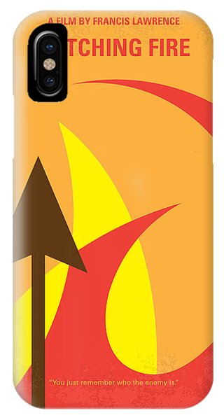 Fire iPhone Case - No175-2 My Catching Fire - The Hunger Games Minimal Movie Poster by Chungkong Art