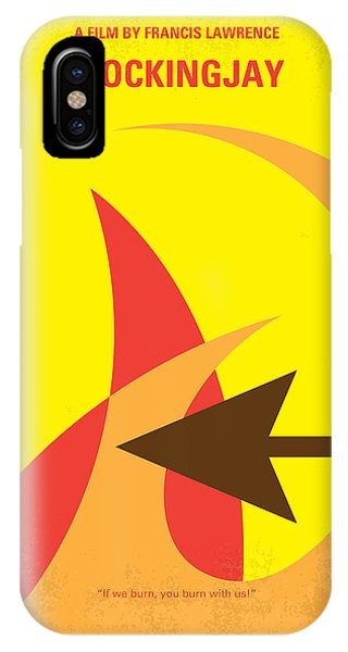 No175-3 My Mockingjay - The Hunger Games Minimal Movie Poster IPhone Case
