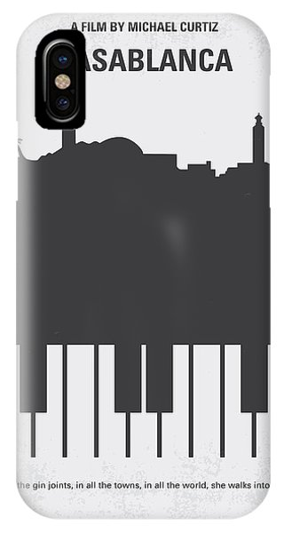 Movie iPhone Case - No192 My Casablanca Minimal Movie Poster by Chungkong Art