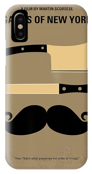 Movie iPhone Case - No195 My Gangs Of New York Minimal Movie Poster by Chungkong Art