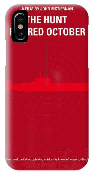 No198 My The Hunt For Red October Minimal Movie Poster IPhone Case