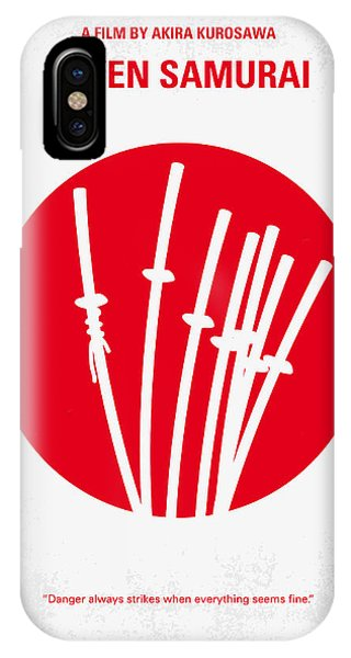 No200 My The Seven Samurai Minimal Movie Poster IPhone Case