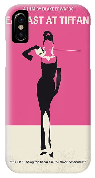 Retro iPhone Case - No204 My Breakfast At Tiffanys Minimal Movie Poster by Chungkong Art