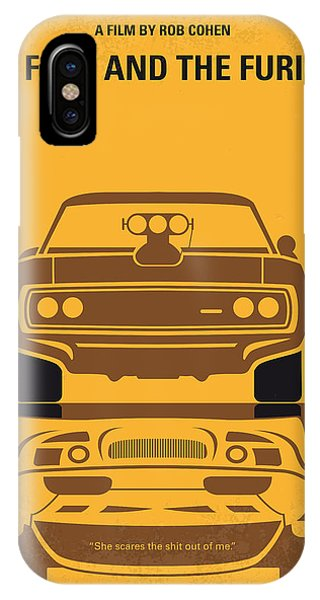 No207 My The Fast And The Furious Minimal Movie Poster IPhone Case