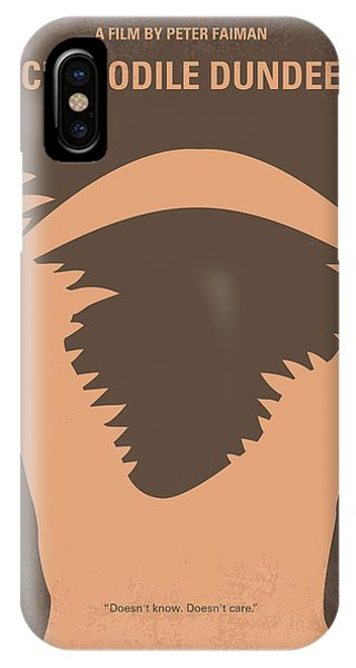 Crocodile iPhone Case - No210 My Crocodile Dundee Minimal Movie Poster by Chungkong Art