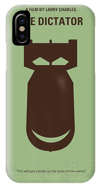 Leader iPhone Case - No212 My The Dictator Minimal Movie Poster by Chungkong Art