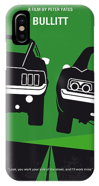 Retro iPhone Case - No214 My Bullitt Minimal Movie Poster by Chungkong Art