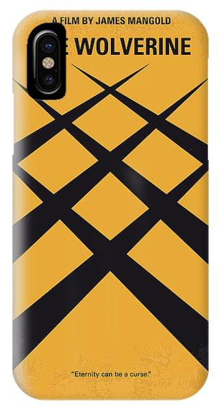 Superhero iPhone Case - No222 My Wolverine Minimal Movie Poster by Chungkong Art
