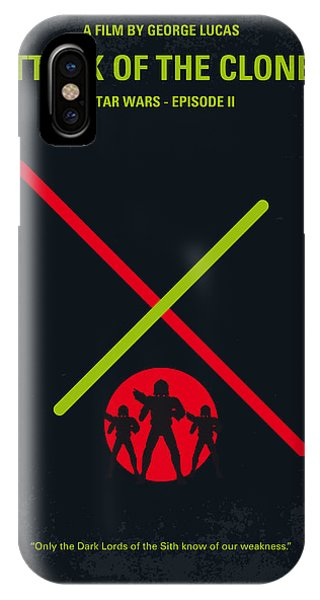 Knight iPhone Case - No224 My Star Wars Episode II Attack Of The Clones Minimal Movie Poster by Chungkong Art