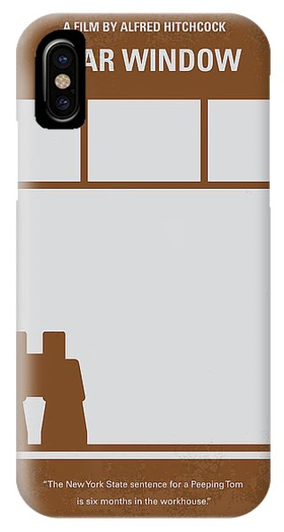 Famous Artist iPhone Case - No238 My Rear Window Minimal Movie Poster by Chungkong Art