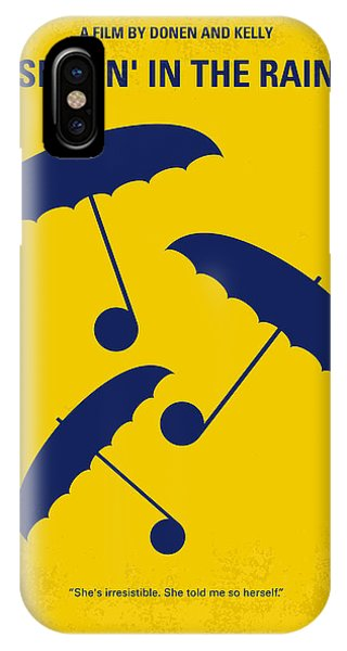 New York iPhone Case - No254 My Singin In The Rain Minimal Movie Poster by Chungkong Art