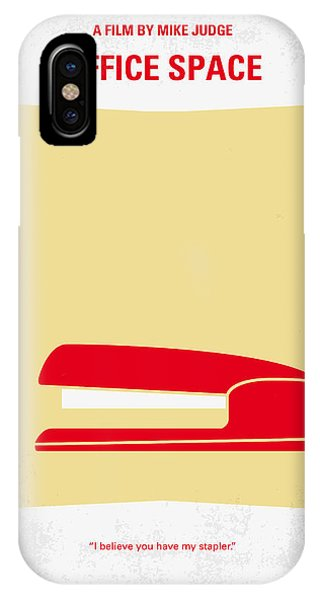Los Angeles iPhone X Case - No255 My Office Space Minimal Movie Poster by Chungkong Art