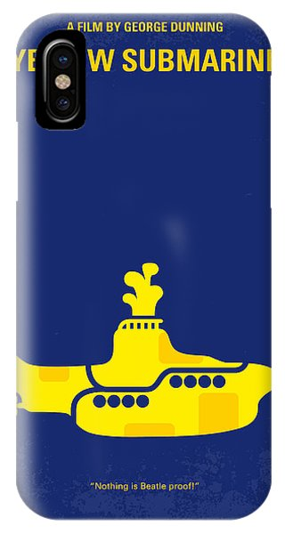 Musicians iPhone X Case - No257 My Yellow Submarine Minimal Movie Poster by Chungkong Art